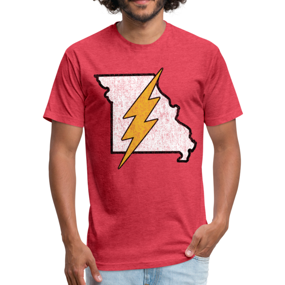Missouri Flash - Fitted Cotton/Poly T-Shirt by Next Level - heather red