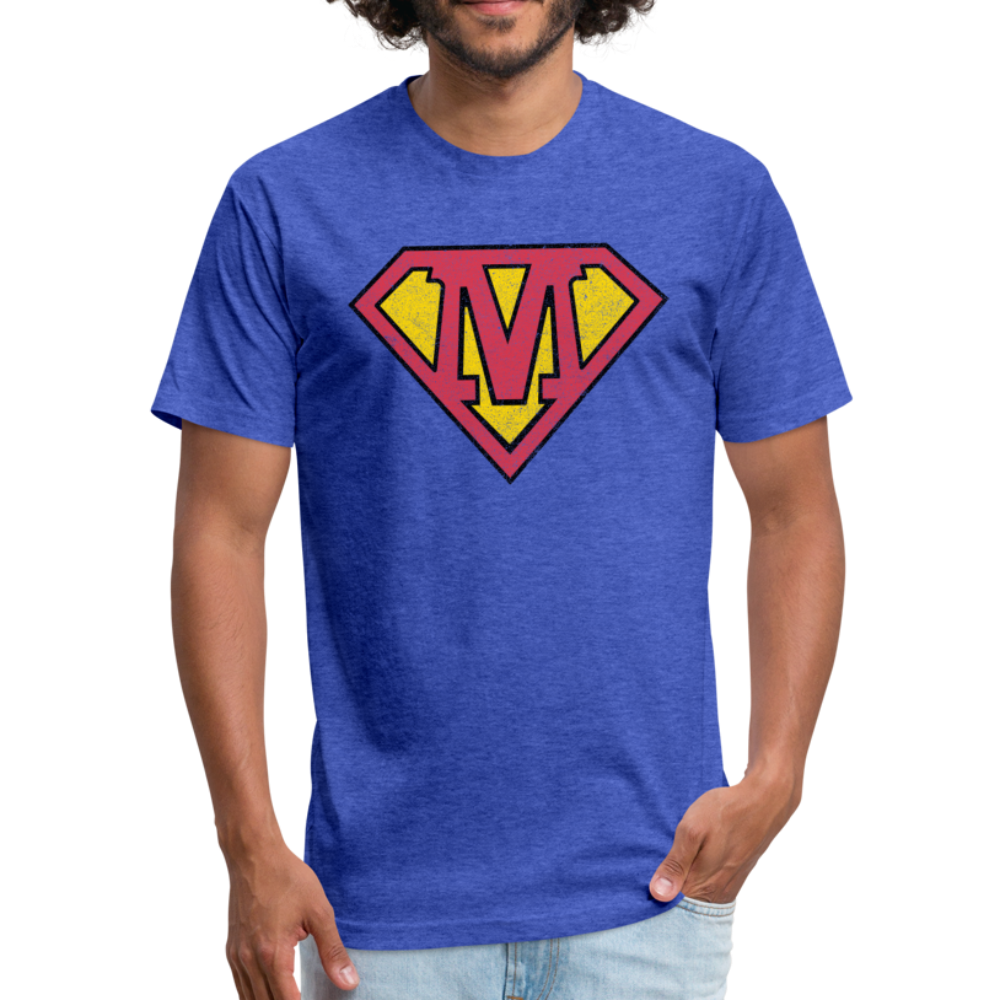 Super M - Fitted Cotton/Poly T-Shirt by Next Level - heather royal