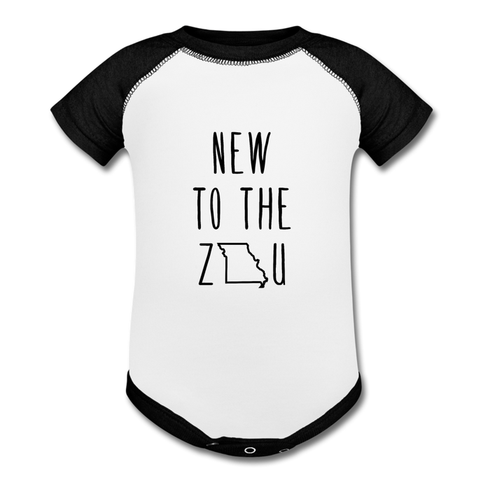 Rookie - Baseball Baby Bodysuit - white/black