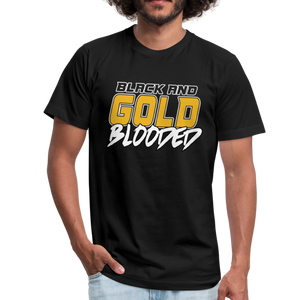BLACK AND GOLD BLOODED - Unisex Jersey T-Shirt - black