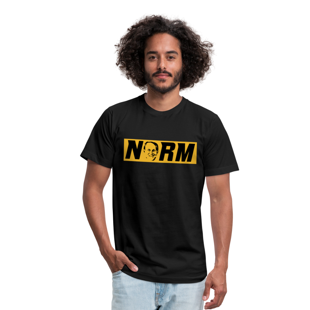 NORM-Unisex Jersey T-Shirt by Bella + Canvas - black
