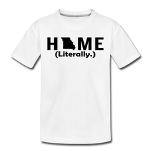 Load image into Gallery viewer, Home (Literally.) - Kids' Premium T-Shirt - white