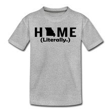 Load image into Gallery viewer, Home (Literally.) - Kids' Premium T-Shirt - heather gray