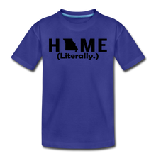 Load image into Gallery viewer, Home (Literally.) - Kids' Premium T-Shirt - royal blue
