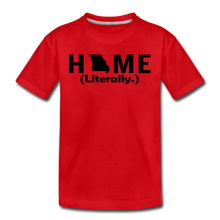 Load image into Gallery viewer, Home (Literally.) - Kids' Premium T-Shirt - red