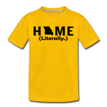 Load image into Gallery viewer, Home (Literally.) - Kids' Premium T-Shirt - sun yellow