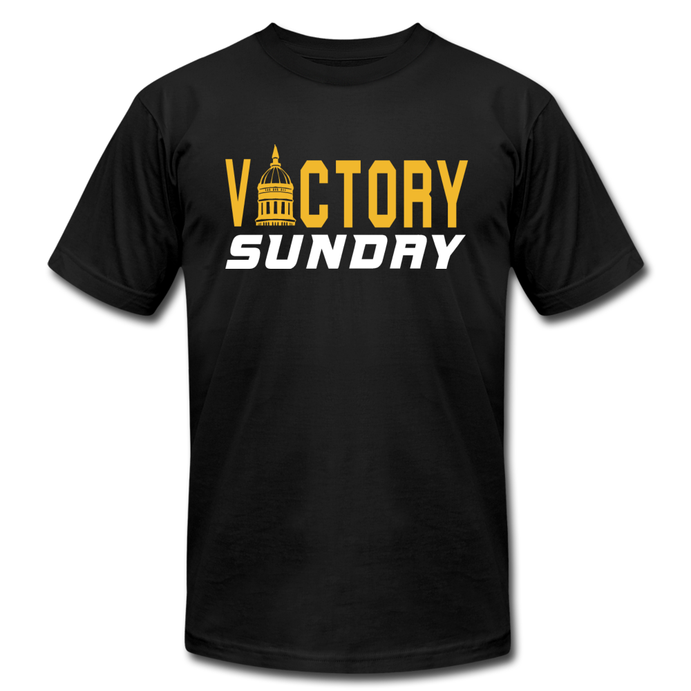 Victory Sunday - Unisex Jersey T-Shirt by Bella + Canvas - black