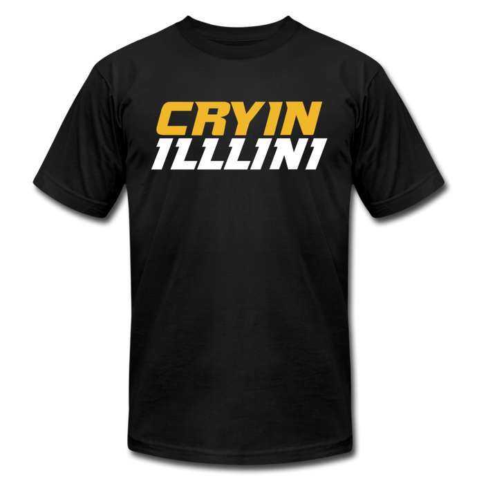 CRYIN ILLLINI - Unisex Jersey T-Shirt by Bella + Canvas - black