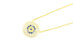 Fashion jewelry store. Evil eye gold plated chain.