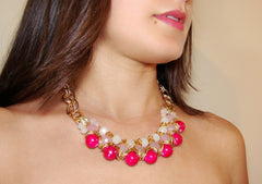 Chunky Necklaces. Fashion trends in Europe.