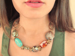 Fashion necklaces for women. Birds of paradise.