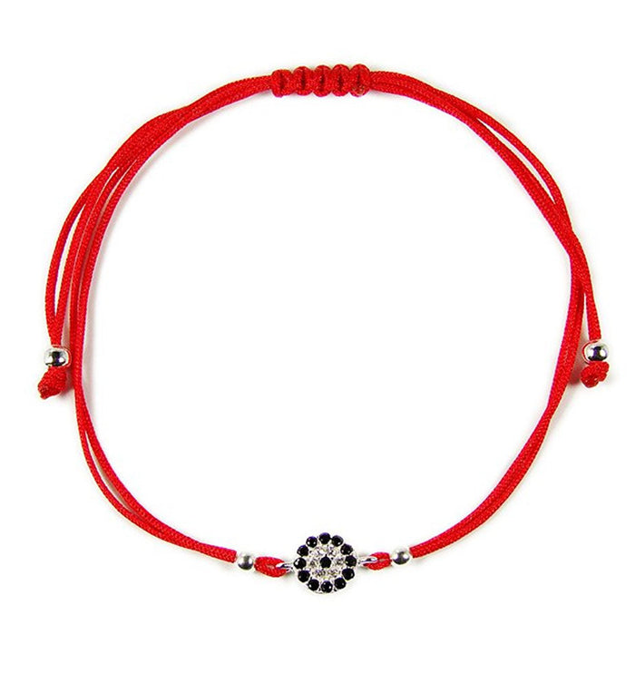 Evil eye Bracelet Sterling Silver CZ Red String Good Luck Charm Amulet Talisman Nazar Good Luck Charm. - Martinuzzi Accessories