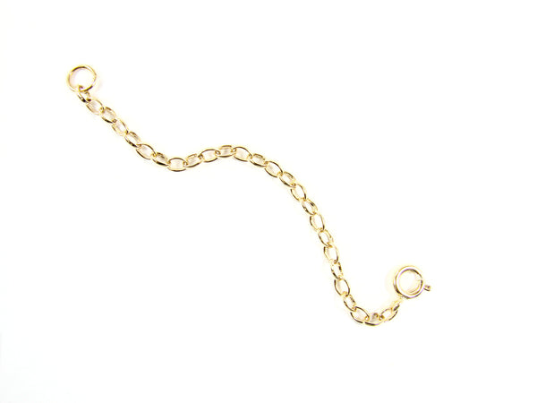 Extender Chain. Necklace Extender. Gold filled, Rose Gold or Sterling Silver Chain Extender - Martinuzzi Accessories