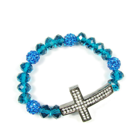 Stretch Cross Bracelet  for women. Martinuzzi Accessories