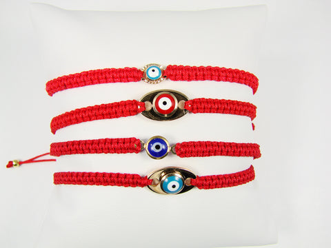 Evil eye bracelt. cord lucky eye bracelet