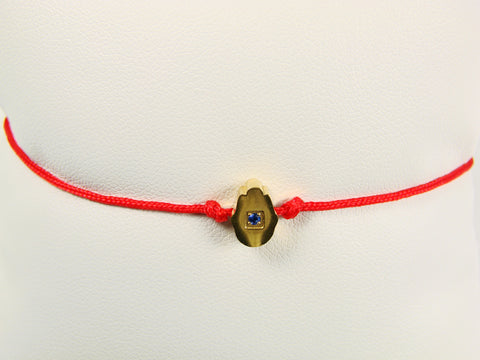 Stainless steel Red cord Hamsa hand bracelet