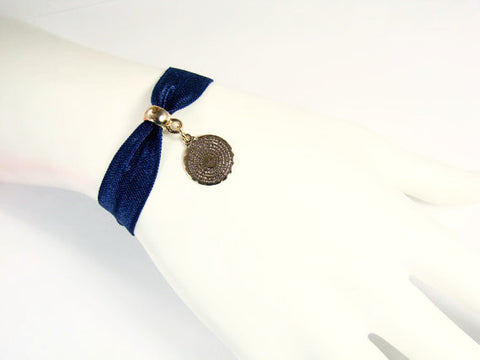 Our Father Prayer Bracelet. Lord's Prayer Bracelet. Royal blue bracelet