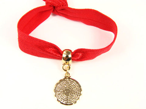 Our Father Prayer Bracelet. Lord's Prayer Bracelet. Red bracelet