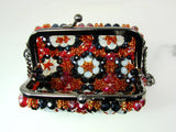 black and white colors purse