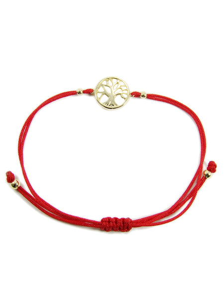 Sterling Silver Tree of Life Red String Bracelet