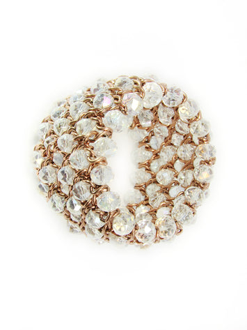 Chunky Bead Bracelet Cuff Stretch Clear Beads - Martinuzzi Accessories