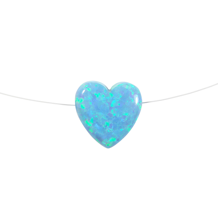 blue opal heart necklace - Martinuzzi Accessories