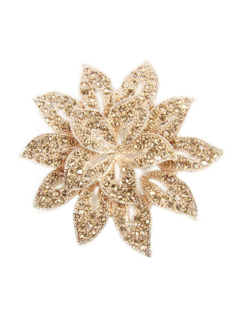 Fashion brooch rose-gold-tone with a floral design