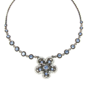 Faceted Beads Flower Pendant Necklace - Martinuzzi Accessories