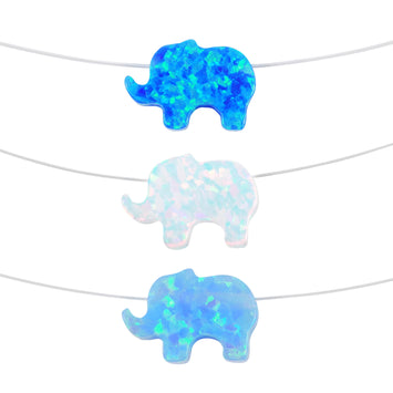 opal elephant necklaces - Martinuzzi Accessories