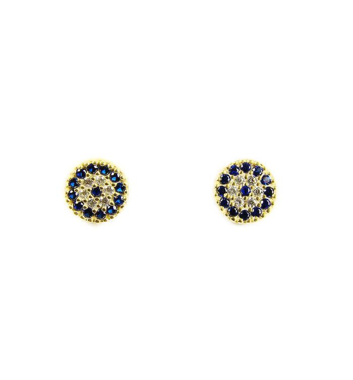 gold evil eye earrings - martinuzzi accessories