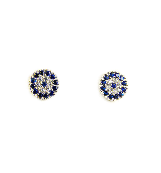 evil eye silver earrings - martinuzzi accessories