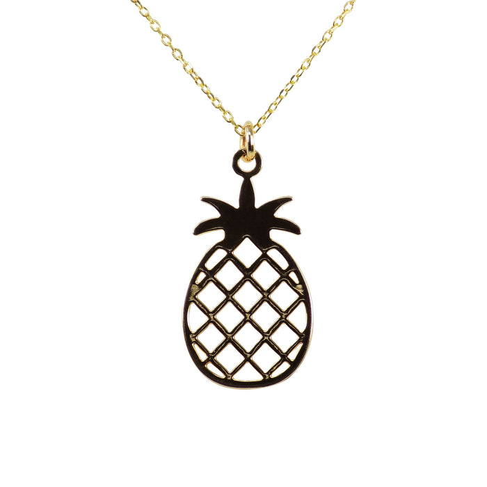 Pineapple Necklace Gold Plated Pendant Charm Gold Filled Chain