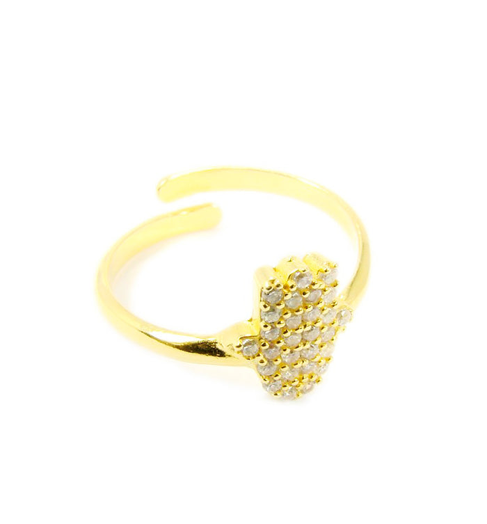 Hamsa Hand Ring Gold plated - Martinuzzi Accessories