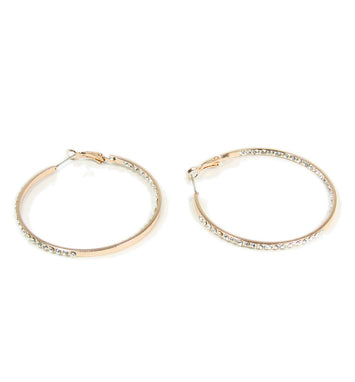 Hoop Earrings Rhinestone Crystal Pavé Fashion Jewelry