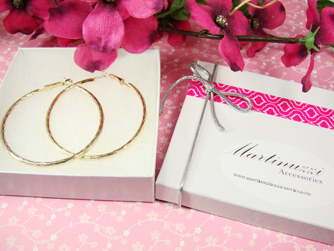 hoop earrings in gold tone