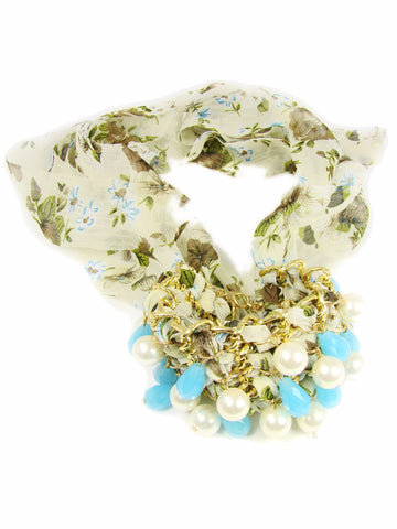 Chiffon Bracelet with beads. Marzia