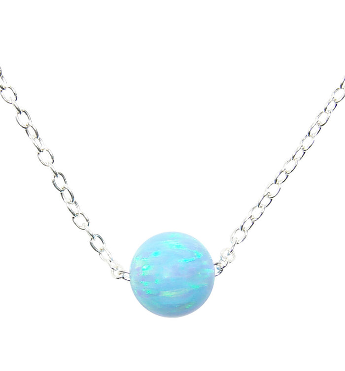 blue opal ball necklace - Martinuzzi accessories