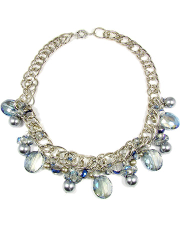 Crystal Bead Necklace Glass Beads Synthetic Pearls Fashion Jewelry Women