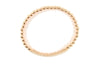 Gold Filled Beaded CZ Pave Bar Stretch Bracelet