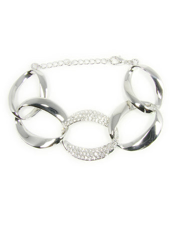 Link Bracelet Rhodium - Martinuzzi Accessories