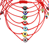 Evil Eye Bracelet Red String Cord Glass Bead - Martinuzzi Accessories