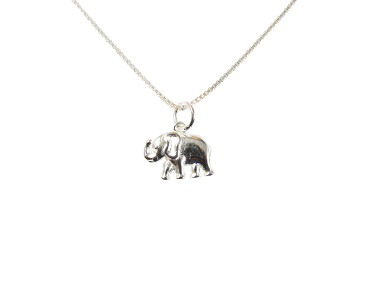 Tiny Elephant Pendant Necklace 925 Sterling Silver Dainty Jewelry