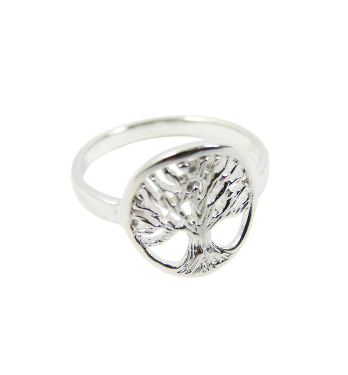 Tree of Life Ring 925 Sterling Silver