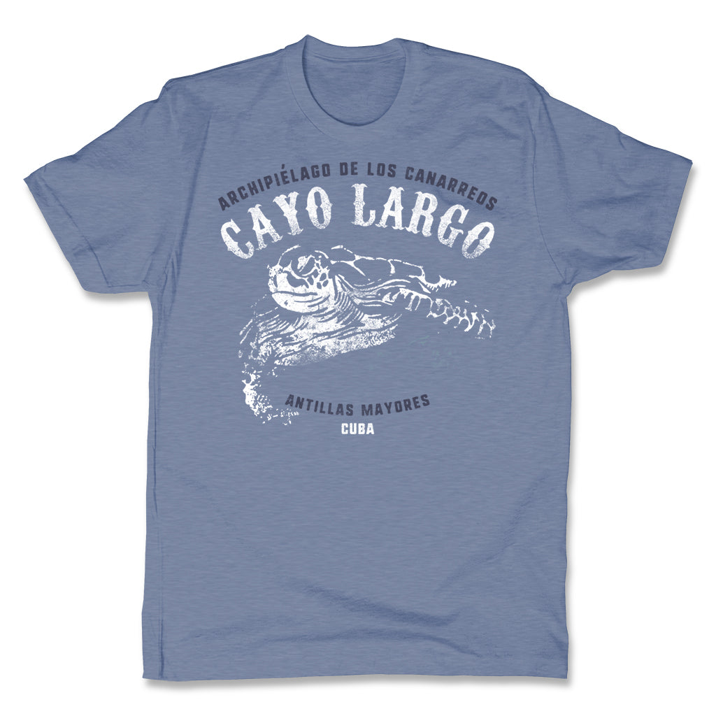 Akonkawa-Cayo-Largo-Cuba-Blue-Mens-T-Shirt