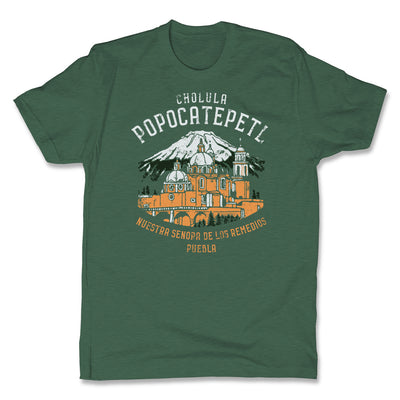Akonkawa-Popocatepetl-Mexico-Green-Mens-T-Shirt