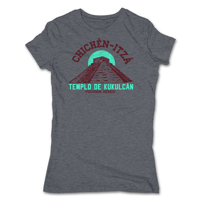 Akonkawa-Chichen-Itza-Mexico-Grey-T-Shirt