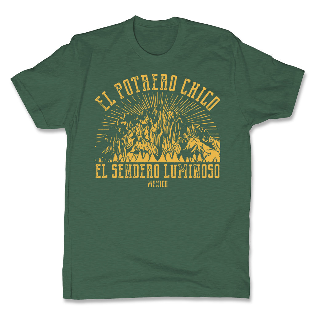 Akonkawa-El-Potrero-Chico-Mexico-Green-Mens-T-Shirt