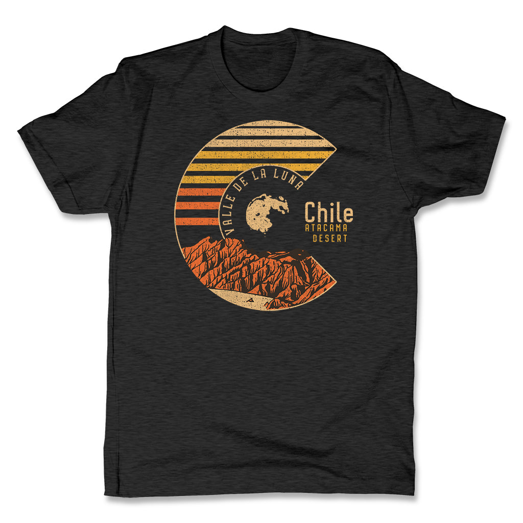 Akonkawa-Valle-De-La-Luna-Chile-Black-Mens-T-Shirt