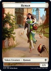 Human // Beast Double-sided Token (Challenger 2021) [Unique and Miscellaneous Promos] | High Tide Games