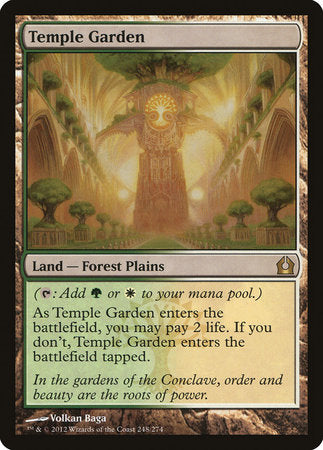 Temple Garden [Return to Ravnica] | High Tide Games